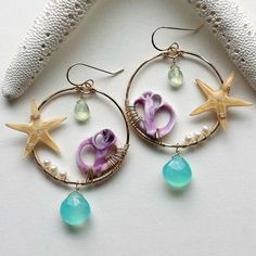 """""""Just listed on my site! I'm loving finding ways to incorporate these lovely purple Cebu shells into my designs. So many possibilities!"""""""