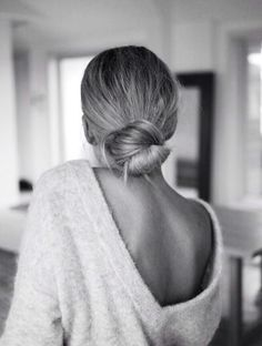 pretty low bun
