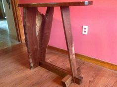 "Black Walnut Crotch Table with ""Rat Tail"" Grain"