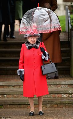 The Queen attending church on Christmas Day 2015. This year her grandson William, his wife...