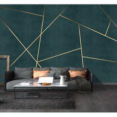 Bacaz Custom Concrete Geometric Wallpaper Wall Sticker for Living Room Background Geometric Wall Decor Print Wall Mural