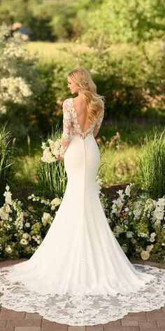 Wedding Dress Wedding Dresses For Abroad Victorian Style Wedding Dresses Wedding Train Greek Wedding – grizzlehair Lace Wedding Dress With Sleeves, Fit And Flare Wedding Dress, Long Sleeve Wedding, Lace Trumpet Wedding Dress, Lace Fishtail Wedding Dress, Lace Dress, Lace Sleeves, Evening Dresses For Weddings, Long Wedding Dresses
