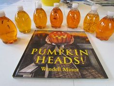 Pumpkin Head Discovery Bottles (to go with Book, Pumpkin Heads by Wendell Minor)