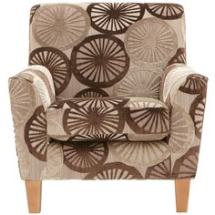 Marrakesh Patterned Accent Chair ($405) ❤ liked on Polyvore featuring home, furniture, chairs, accent chairs, floral armchair, pattern furniture, floral chair, patterned arm chair and patterned armchair