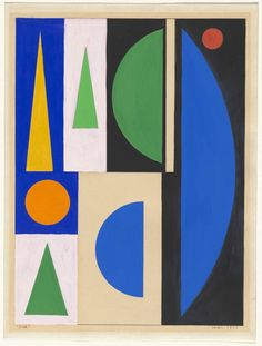 "Auguste Herbin. Jour (Day). 1953. Gouache on paper. 13 1/8 x 10 1/2"" (33.4 x 26.6 cm). The Riklis Collection of McCrory Corporation. 896.1983. © 2016 Artists Rights Society (ARS), New York / ADAGP, Paris. Drawings and Prints"