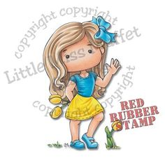 Polka Dot Pals Jane from Little Miss Muffet Stamps