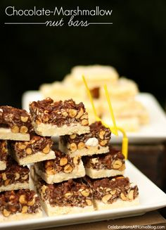 Chocolate Marshmallow Nut Bar Recipe — Celebrations at Home
