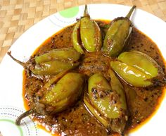 Spicy and delicious brinjals -speciality of Amritsar-Punjab(India) veg recipes Tasty Vegetarian, Vegetarian Cooking, Cooking Recipes, Indian Vegetarian Recipes, Cooking Broccoli, Cooking Lamb, Cooking Salmon, Easy Cooking, Baigan Recipes