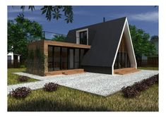 15 incredible best modern architecture ideas that constructi Tiny House Cabin, Cabin Homes, My House, Micro House, A Frame House Plans, A Frame Cabin, Triangle House, Casas Containers, Forest House