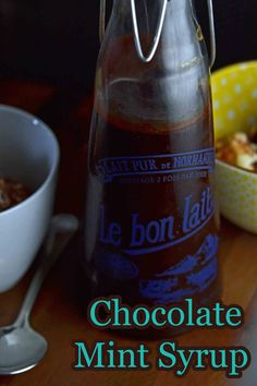 Homemade Chocolate Mint Syrup