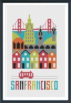 San Francisco Cross Stitch Chart Instant Download