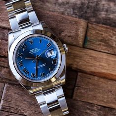 This Rolex Datejust II will be sure to keep the blues away.  Learn more by clicking the link in our bio and search ERP18782.