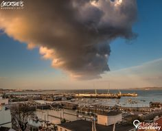Interesting looking cloud hovering over St Peter Port Harbour late this afternoon. #LocateGuernsey  Link to the whole collection of 'Georgie's Guernsey':-http://chrisgeorge.dphoto.com/#/album/4daaes  Picture Ref: 21_03_17