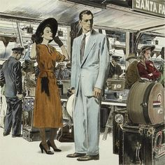 Waiting at the Station, art by Robert Fawcett