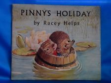 RACEY HELPS VINTAGE BOOK PINNY'S HOLIDAY (HEDGEHOG) 1970 MEDICI IST EDITION PB