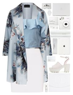"""""""floral paradise💙"""" by charli-oakeby ❤ liked on Polyvore featuring Marina Rinaldi, Helmut Lang, Miss Selfridge, Chanel, Nly Shoes, NARS Cosmetics, Linum Home Textiles, H2O+, Fuji and adidas Originals"""