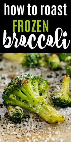 How to make roasted frozen broccoli taste delicious - a dinner time game changer! Veggie Side Dishes, Vegetable Sides, Side Dishes Easy, Side Dish Recipes, Food Dishes, Dinner Recipes, Broccoli Side Dishes, Roast Dinner Side Dishes, Oven Broccoli