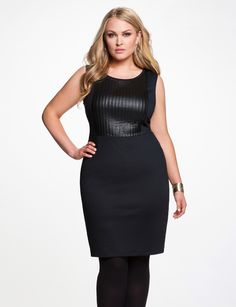 Ponte Strips Dress - Women's Dresses & Plus Size Dresses - eloquii by The Limited