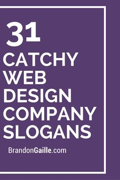 31 Catchy Web Design Company Slogans