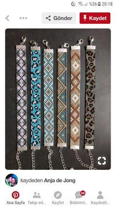 Perler, Bead Loom Bracelets, Native American Beading, Brick Stitch, Loom Patterns, Loom Beading, Jewelry Patterns, Bead Art, Bead Weaving