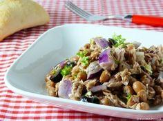 Insalata di tonno, cipolla e fagioli - Thunfischsalat mit Zwiebeln und Bohnen
