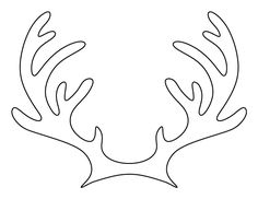 Printable reindeer antlers pattern. Use the pattern for crafts, creating stencils, scrapbooking, and more. Free PDF template to download and print at http://patternuniverse.com/download/reindeer-antlers-pattern/.