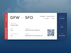 Boarding Pass :: Daily UI - 024