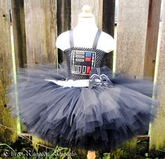 Darth Vader Inspired Tutu Dress with Mask - Star Wars - Embroidery - Newborn to Size 8