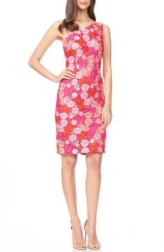 David Meister Embroidered Lace Sheath Dress available at #Nordstrom