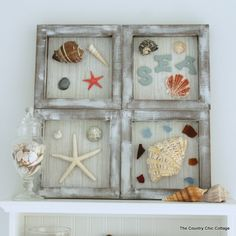 DIY Beach Themed Shadowbox Art
