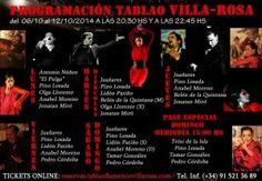 TABLAO VILLA ROSA: FLAMENCO MADRID: FLAMENCO MADRID VILLA-ROSA: ARTISTAS DEL 13 AL 19 ...