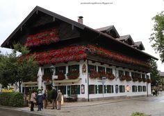 European Flower Window Boxes!  Hotel Wolf is beautiful!