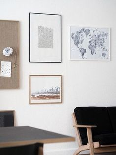 at{mine} monochrome living room with lovely posters