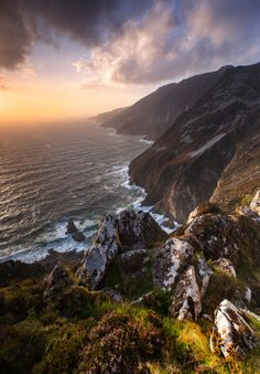 Sliabh League in south Donegal, Ireland