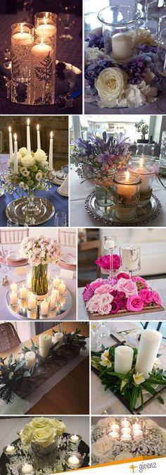Centro tavola matrimonio con candele: