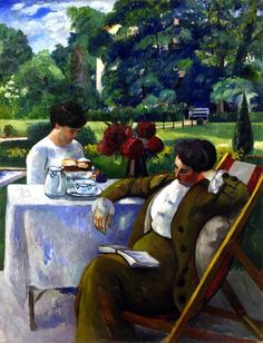 """Tea at the Villa Flora"" by Henri Manguin - 1912"