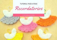 Tutorial #117: Recordatorio Baby Shower a Crochet | CTejidas [Crochet y Dos Agujas]