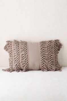 Venice Net Tassel Bolster Pillow- would be easy to buy trim and sew on