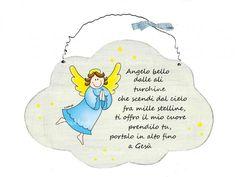 Targhetta angelo celeste
