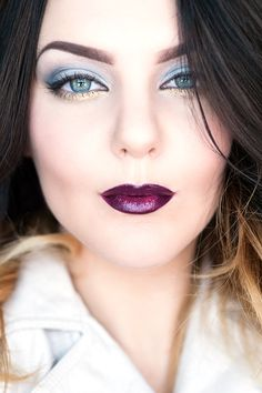 MOTD: Ice Ice Baby #TooFaced #purplelip #bluemakeup