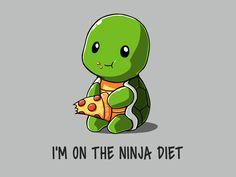 Ninja Diet | Funny, cute & nerdy shirts | TeeTurtle | TeeTurtle