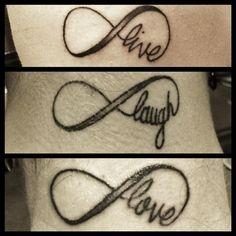 Live Laugh Love Tattoos - Friends