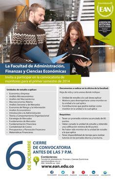 ¿Eres estudiante de la Facultad de Administración, Finanzas y Ciencias Económicas? Sé #MonitorEAN