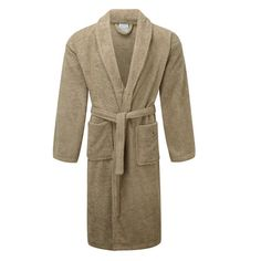 These premium quality shawl collar bathrobes are now part of our new 475 GSM toweling range. Each bath robe weighs around which adds to the softness and durability of the product. L Shaped Bath, Kimono Dressing Gown, Collar Dress, Shawl, Gowns, Luxury, Spun Cotton, Latte, Colour