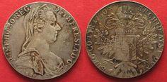 1952-1955 Haus Habsburg AUSTRIA Maria Theresa Thaler 1780 (Rome 1935-1939) silver aXF # 92915 f.vz