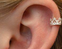 Crown -  Gold Vermeil - High Cartilage Ear Cuff  -  SINGLE