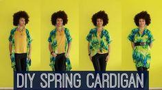 Tie Dye Spring Cardigan DIY Technique