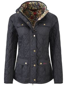 #Barbour Ladies' Morris Utility Quilt Jacket – Black/Golden Lily LQU0568BK91 #Jacket #AW14