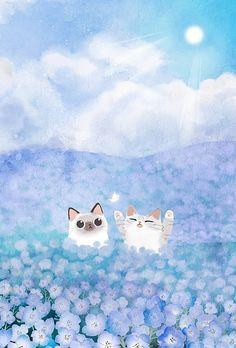 cat phone wallpaper, i love cats, Cartoon Wallpaper, Wallpaper Gatos, Cat Phone Wallpaper, Kawaii Wallpaper, Cute Wallpaper Backgrounds, Mobile Wallpaper, I Love Cats, Crazy Cats, Animals Watercolor