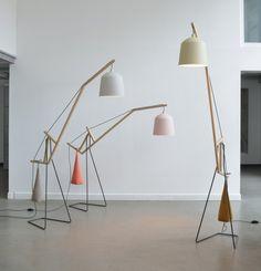 A floor lamp. Lámpara de pie - Muebles de diseño moderno, puffs Fatboy y mobiliario de exterior Vondom